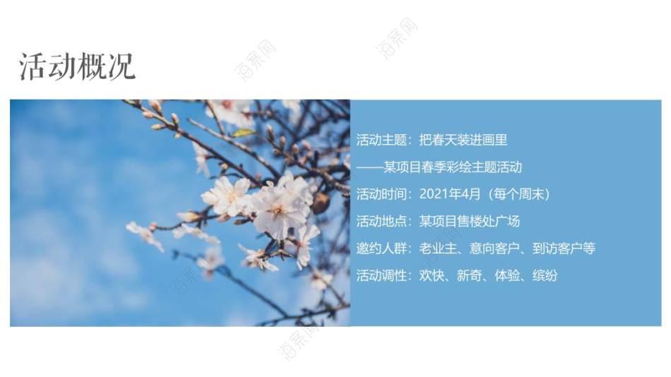 2021地产项目春季四月周末彩绘(把春天装进画里主题)活动策划方案-35P