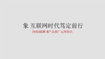 房地产品牌鸿锦城DK-8产品整合推广运筹方案【109P】