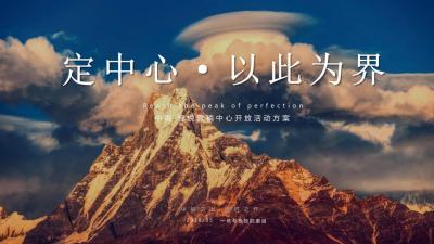2020地产中南锦悦项目营销中心开放(定中心·以此为界主题)活动策划方案-44P