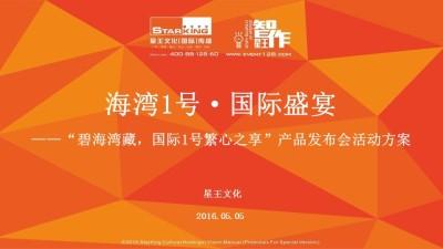 房地产品牌碧桂园海湾一号产品发布会活动策划方案【49P】