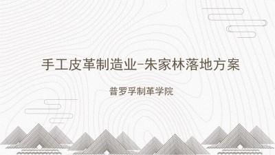 手工皮革制造业普罗孚入驻朱家林商业策划书方案【23P】