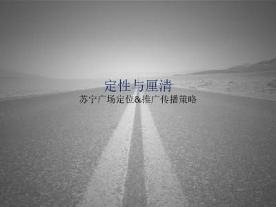 商业地产品牌苏宁广场定位推广传播方案【115P】
