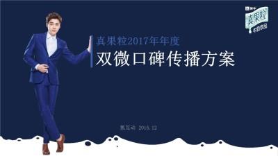 乳制品品牌真果粒年度双微口碑传播策划方案【126P】