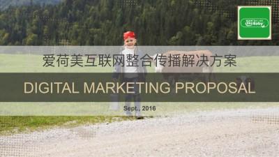 奶粉品牌爱荷美互联网整合传播策划方案【44P】