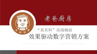 高端桶面食品老爸厨房新品上市数字营销策划方案【57P】