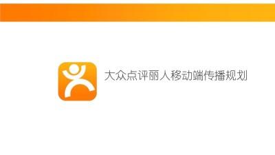 互联网信息服务平台大众点评丽人移动端传播规划推广方案【28P】