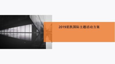 酒店品牌星凯国际酒店主题创意活动策划方案【88P】