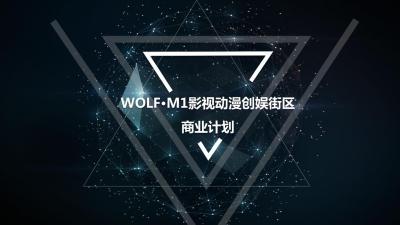 WOLF·M1影视动漫创娱街区商业计划策划方案【19P】
