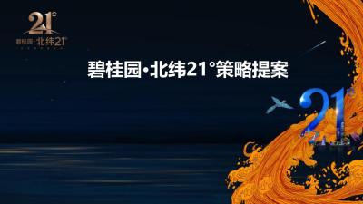 地产品牌碧桂园北纬21度项目策略推广方案-41P