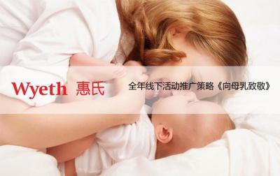 母婴行业惠氏《向母乳致敬》全年线下活动推广策略方案[35P]