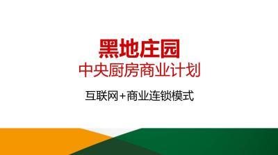 商业综合集团黑地庄园中央厨房项目商业计划方案[77P]