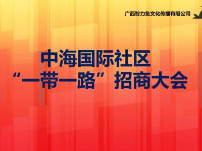 """房地产中海国际社区""""一带一路""""招商大会活动策划方案【17P】"""