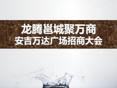 房地产安吉万达广场《龙腾邕城聚万商》招商大会活动策划方案【26P】