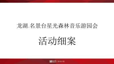 房地产龙湖.名景台星光森林音乐游园会暨示范区开放执行案活动策划方案【80P】