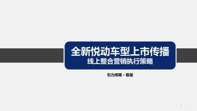 汽车品牌全新悦动车型上市传播线上整合营销策划方案【200P】