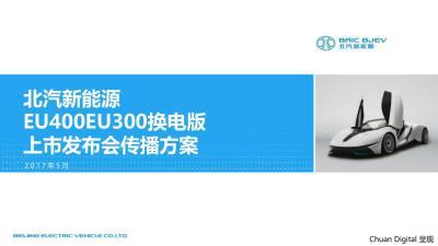 汽车品牌北汽新能源EU400EU300换电版上市发布会活动策划方案【66P】